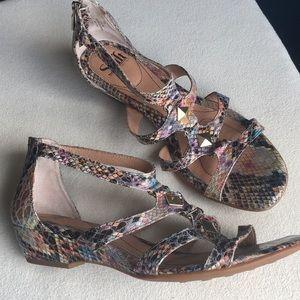 Sofft snakeskin gladiator sandals sz 9.5